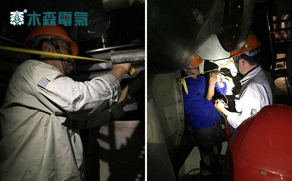 660MW发电机交流耐压试验现场