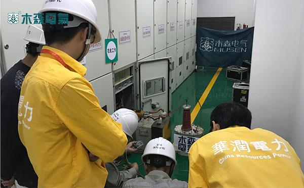 浙江220kV高压脉冲电缆故障检测仪浙江电力公司试验现场