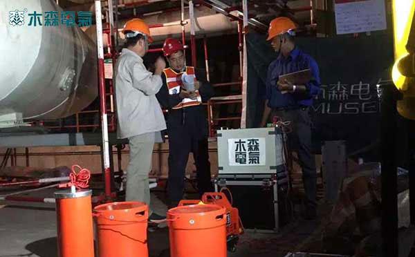 河北660MW发电机工频耐压试验现场:麻城大别山发电厂