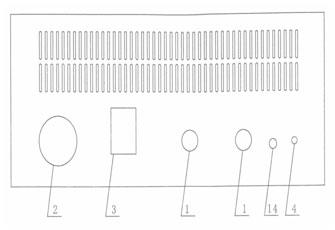 山东水内冷直流高压发生器NRZV大功率机箱后板示意图