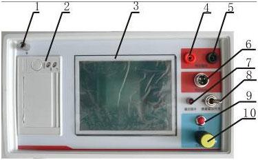 陕西全自动电容电桥测试仪面板示意图
