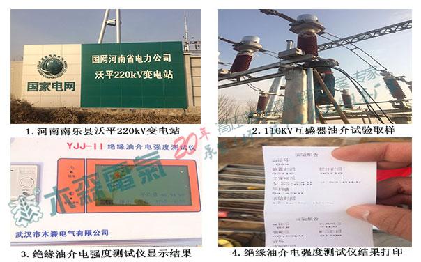 220kV变电站绝缘油介电强度测试试验案例