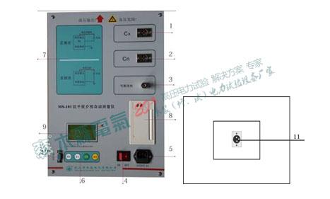 MS-101抗干扰介损自动测试仪仪器面板和侧面