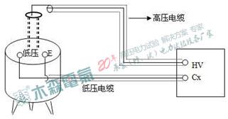 标准电容BR16正接线(非接地试品)接线法
