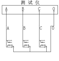 江苏MS-207T有载分接开关测试仪(1A)吊芯测量接线图