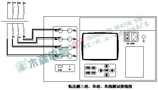 低压侧三相、单相、单线测试接线图