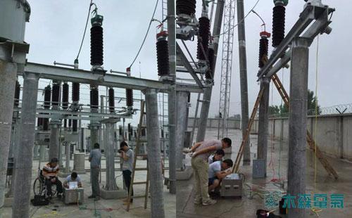5.5公里110kV输电线路参数测试顺利完成