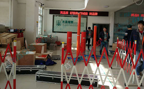 售电公司电力试验设备前调试进行中